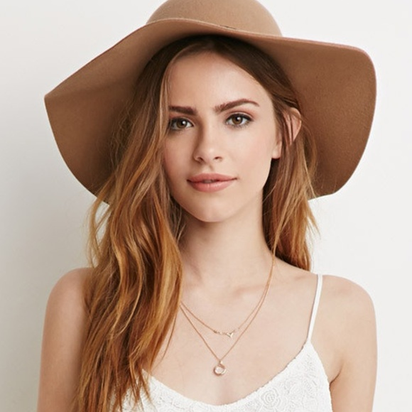 819fb6f0 Forever 21 Accessories - New Women's Forever 21 Natural Felt Wide Brim Hat